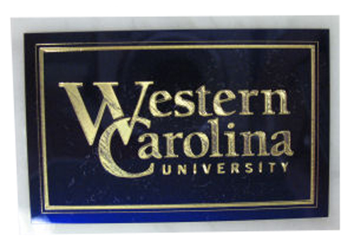 WCU Office Plaque