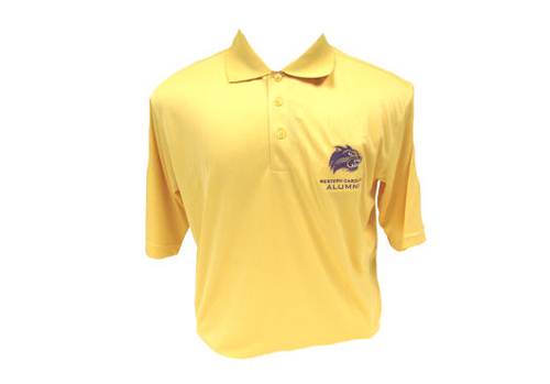 Polo shirt with WCU cat head logo