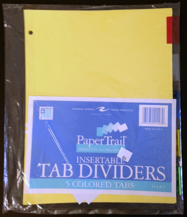 Dividers Colored With Tabs 5-pk