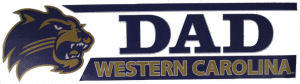 "Decal --- Dad ""Western Carolina"""