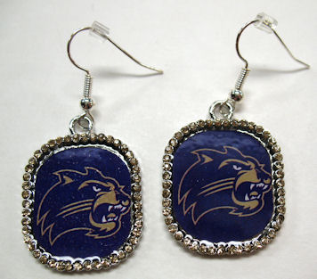 Earrings (Cathead & Gold Rhinestones)