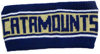 """Headband/Hat Band (Purple & Gold Knit / """"Catamounts"""")"""