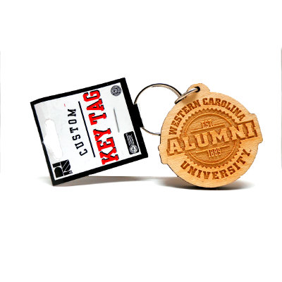 Keyring (Wooden, Alumni / Western Carolina University)