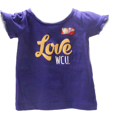 Infant Shirt --- Purple with Ruffle Sleeves
