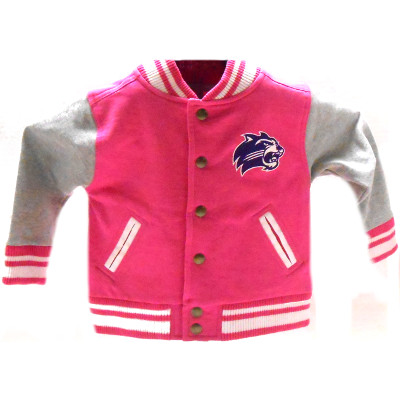 Toddler Jacket --- Pink & Grey, Cat