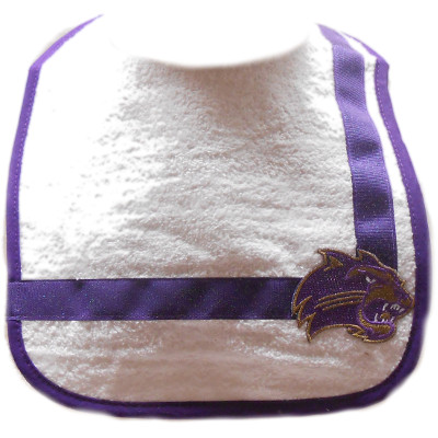 Bib with Glitter on Purple Ribbon