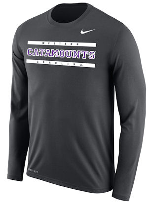 Long-sleeve T-Shirt (Grey, Western/Catamounts/Carolina,Nike)