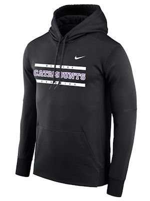 Hooded Sweatshirt (Black, Western/Catamounts/Carolina,Nike)