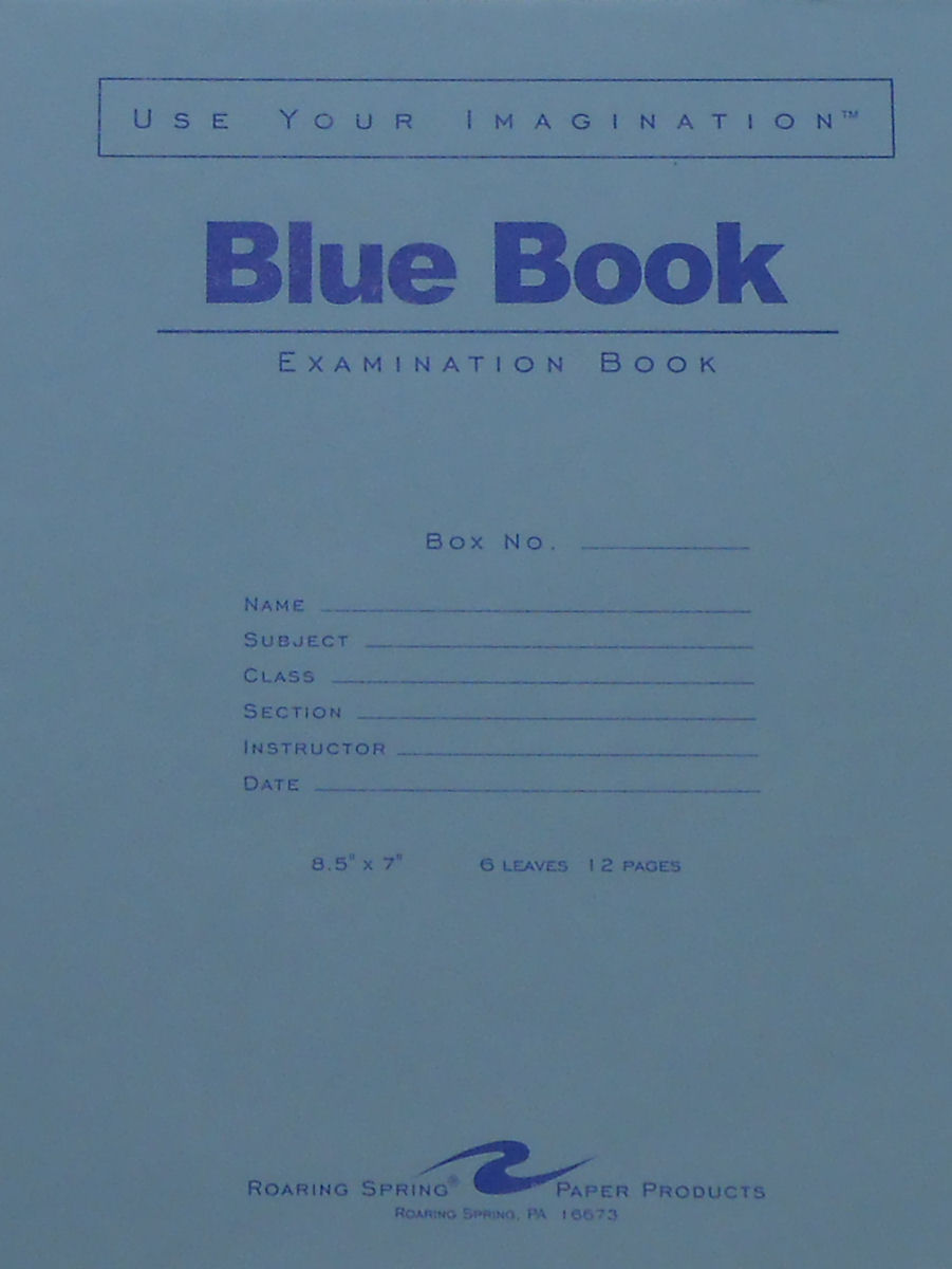 Cover Image For BLUE BOOKS