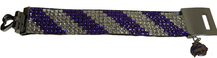 Cover Image For Bracelet--Wide with Rhinestones