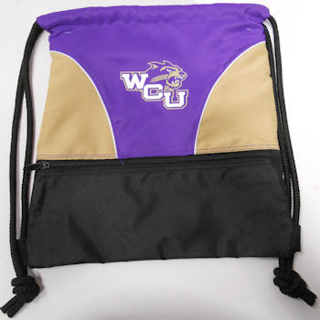 Image For Backsack (Purple & Gold, WCU/Cat)