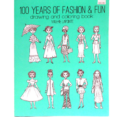 Image For Coloring Book --- 100 Years of Fashion & Fun