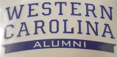 Image For Decal --- Western Carolina Alumni in Banner