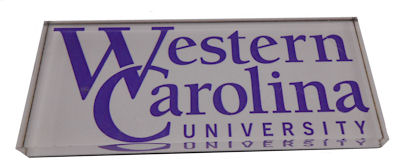 Image For Magnet (Rectangle with Western Carolina University)