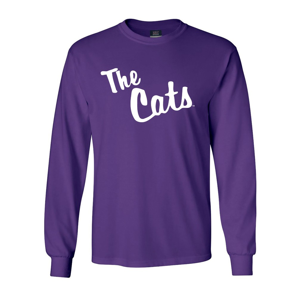 "Image For Long-Sleeve T-Shirt (""The Cats"", Purple, MV Sport)"