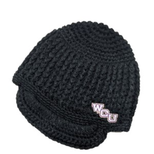 Image For Beanie with Bill (Black, LogoFit)
