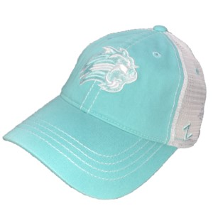 Image For Cap (Turquoise & White, Cat, Zephyr)