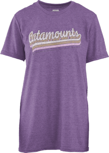 Image For Ladies' T-Shirt (Purple, Catamounts, Pressbox)