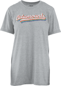 Image For Ladies' T-Shirt (Grey, Catamounts, Pressbox)