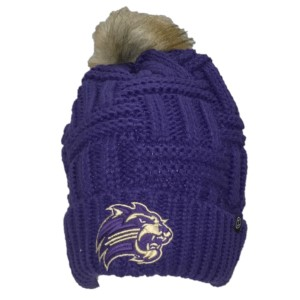 Image For Beanie (Purple w/ Pom, Cat, Zephyr)