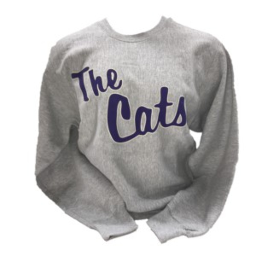Cover Image For Crew Sweatshirt (Grey, The Cats, MV Sport)