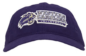 "Image For Cap (Purple, ""Western Carolina Volleyball"" Banner, Game)"