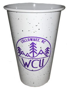 Cover Image For Cup (White, WCU/Cullowhee,NC/Trees, Neil)