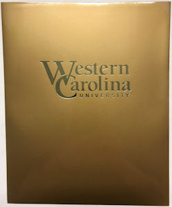 Cover Image For Folder (Gold, Western Carolina University, Roaring Springs)