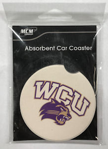 Image For Coaster for Car (White, WCU/Cat, MCM)