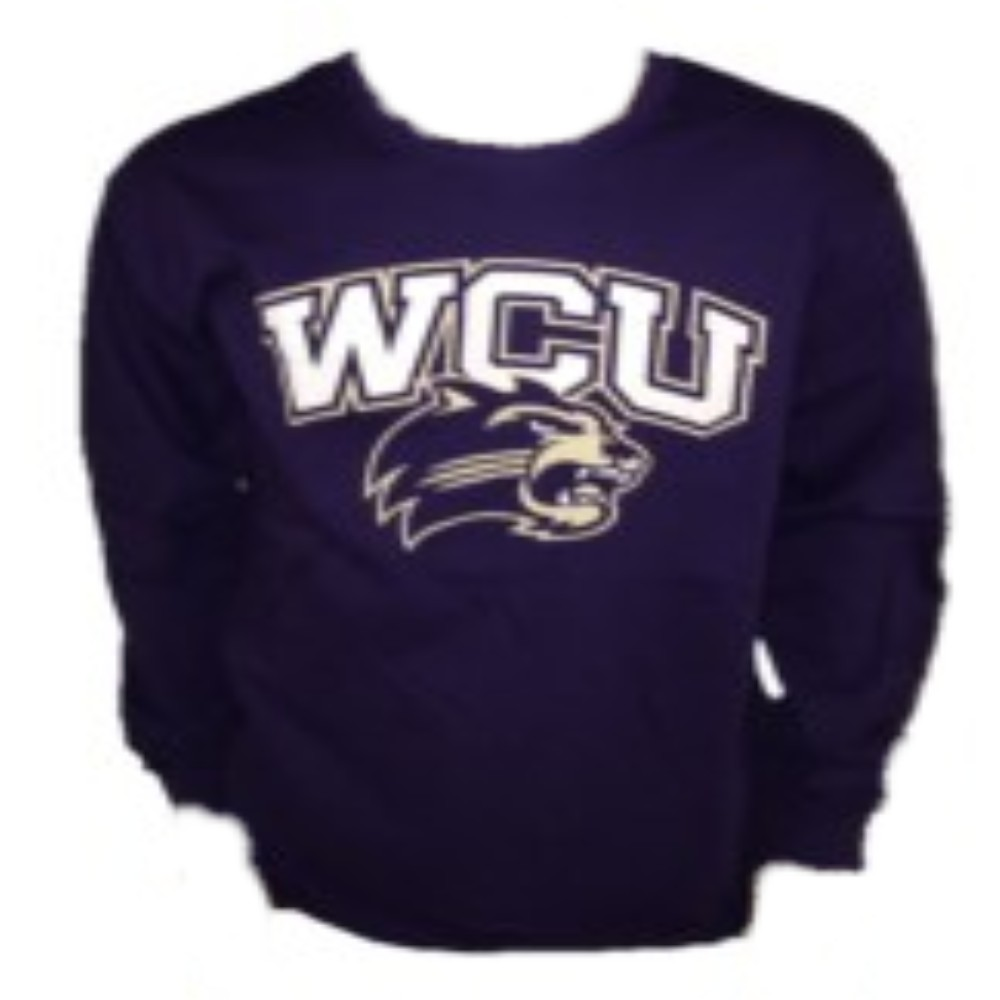Image For Long-Sleeve T-Shirt (Purple, WCU/Cat, MV Sport)