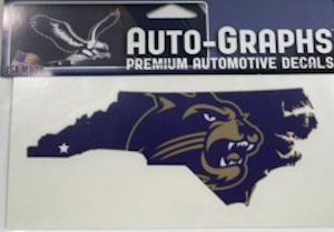 Image For Decal --- Cat in State/Star at Cullowhee