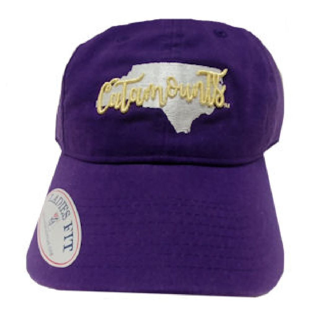 Image For Cap (Purple, Ladies Fit, State w/ Catamounts)