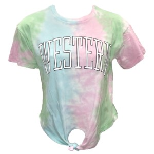 Image For Ladies' T-Shirt (Tie-dye, Knot, Western, Pressbox)