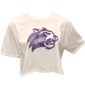 Image For Ladies' Crop T-Shirt (White, Cat, Champion)