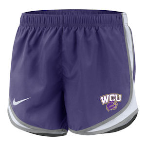 Image For Ladies' Shorts (Purple/Grey/White, WCU/Cat, Nike)