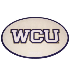 Image For Decal--- WCU Mom in Oval
