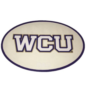 Cover Image For Decal--- WCU Dad in Oval