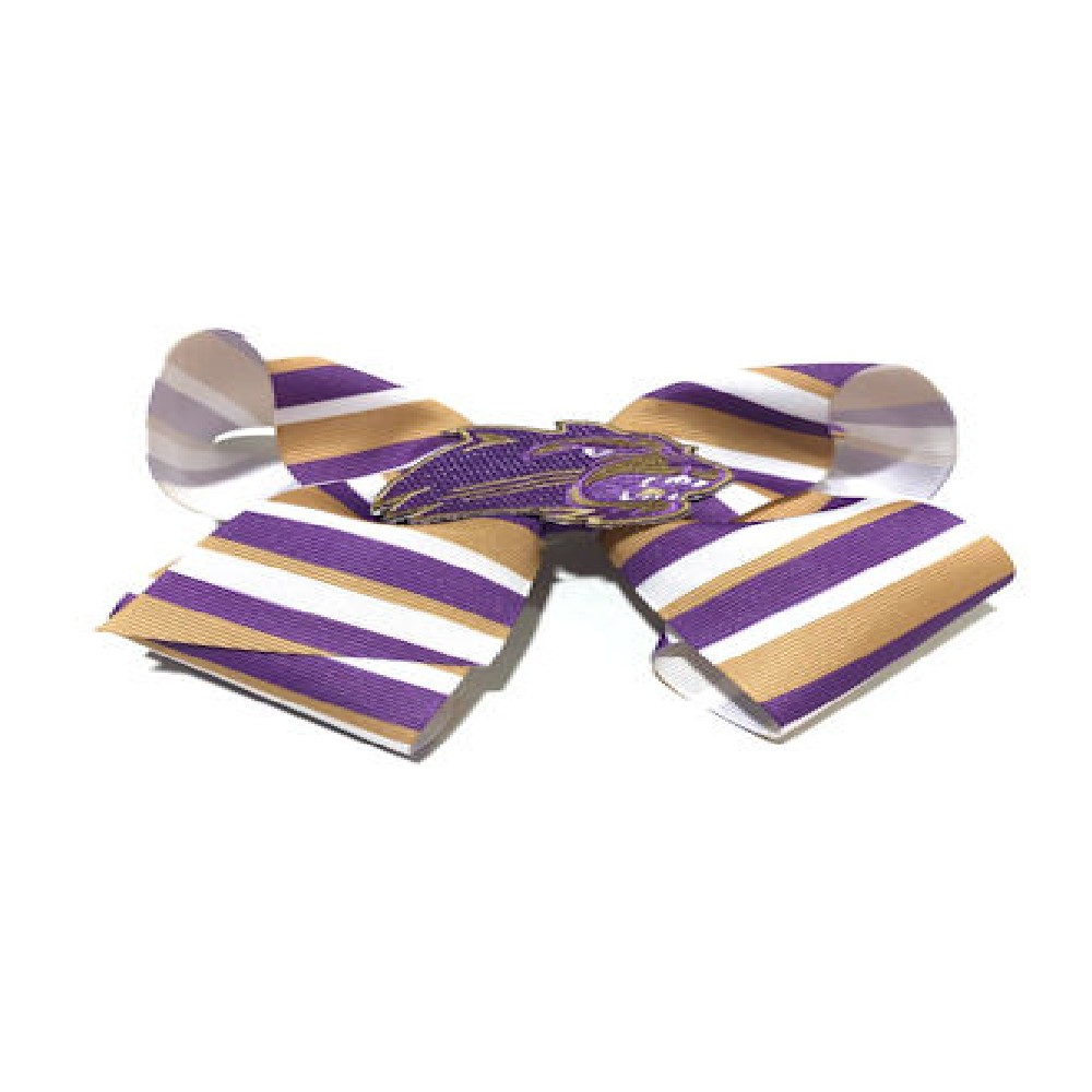 Image For Bow for Hair (Large, Striped with Cathead, Wee Ones)