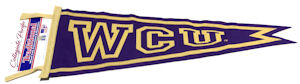 Image For Pennant (Purple & Gold, WCU, Collegiate Pacific)