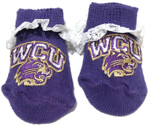 Image For Booties (Purple with Lace, WCU/Cat, Creative Knitwear)