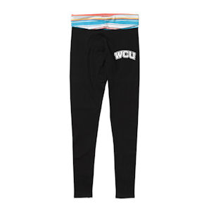 Image For Ladies' Pants/Leggings (Black, Main Stripe is Blue, MV)