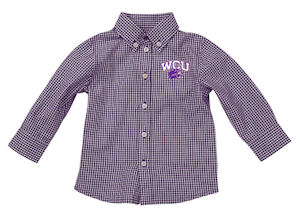 Cover Image For Infant Shirt (Purple/White, WCU/Cat, Garb)