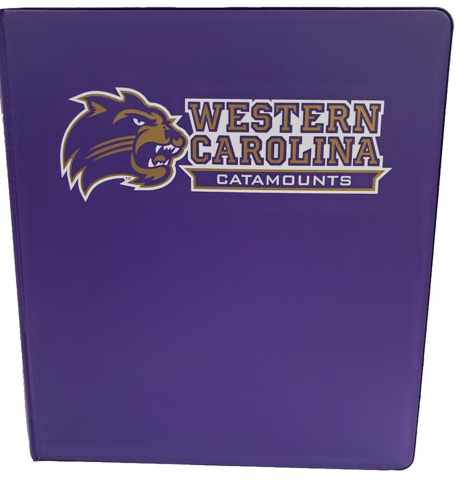"Cover Image For Binder 1"" Purple, Cat/Western Carolina Catamounts"