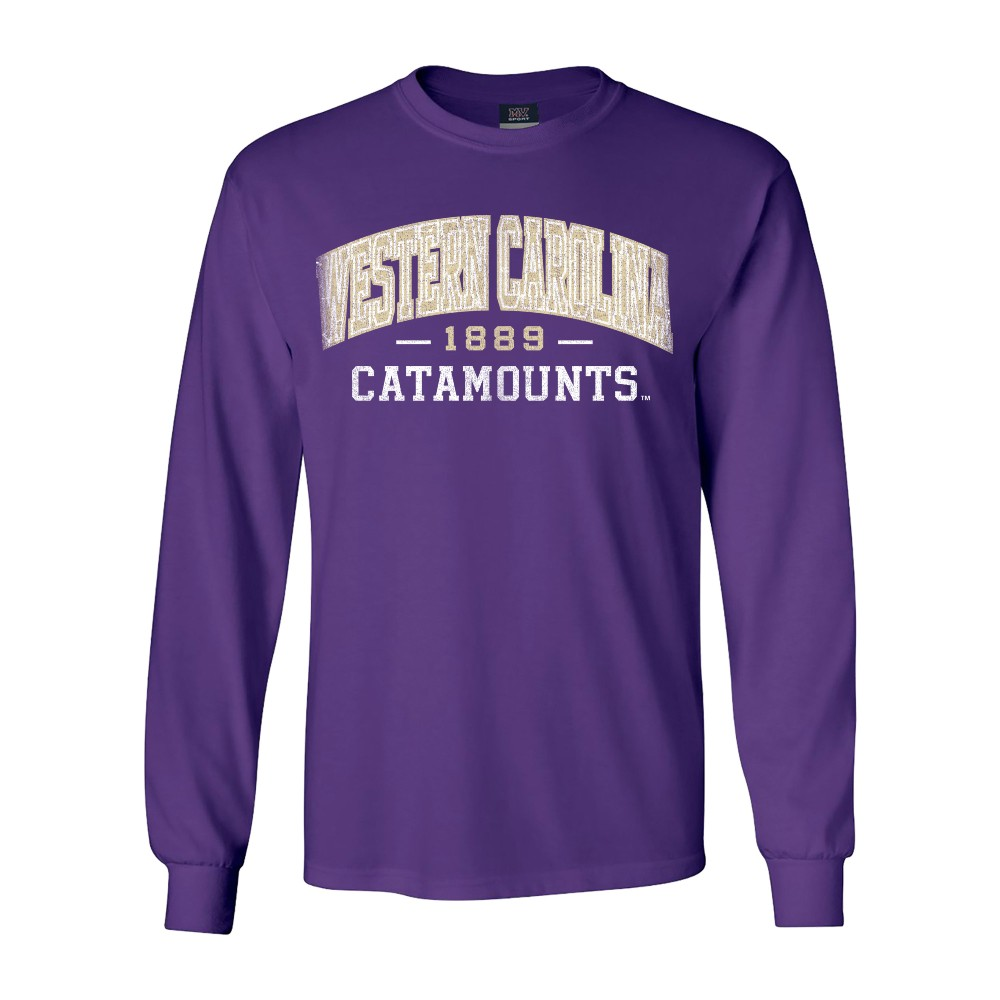 Image For Long-Sleeve T-Shirt  (Purple, WC/Catamounts/1889, MV)