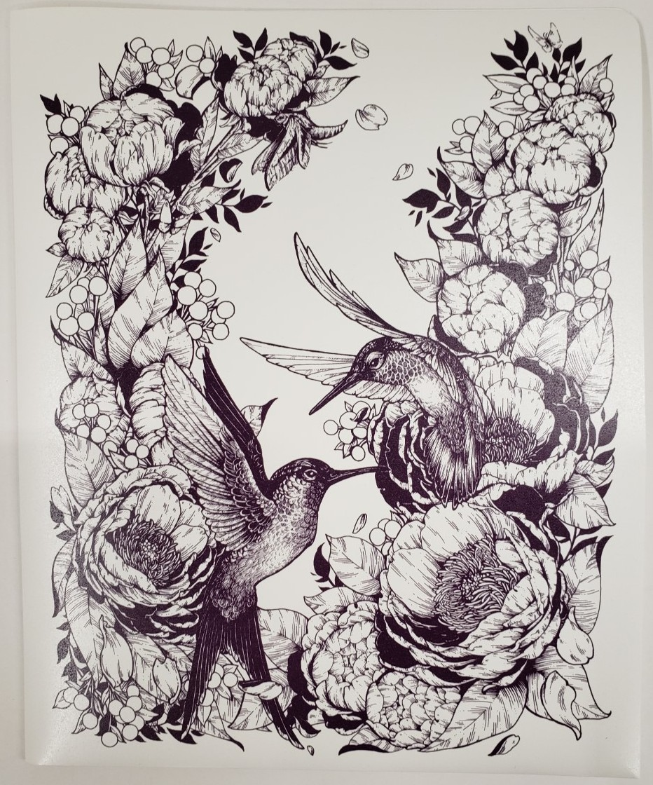 Image For Folder (Hummingbirds, 2-pocket)