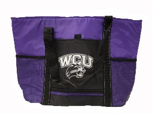 Image For Cooler Tote (Purple/Black, WCU/Cat)