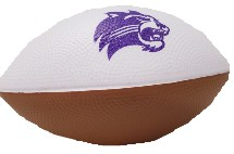 "Image For Football (Brown/White with Purple Cathead, Foam, 6"", MCM)"
