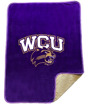 Image For Blanket (Reversible, Purple/Gold, WCU/Cat)