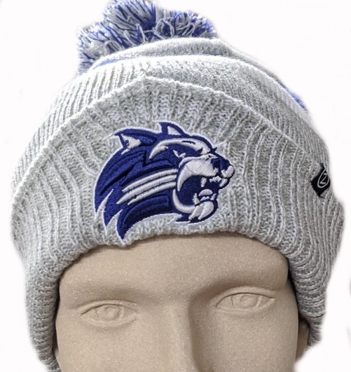 Image For Beanie (Grey/White/Purple Striped, Cathead, Zephyr)