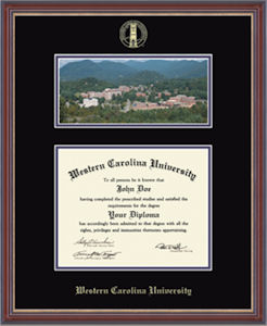 Cover Image For Campus Scene Diploma Frame